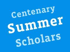 Centenary Summer Scholars Forensic Science Program