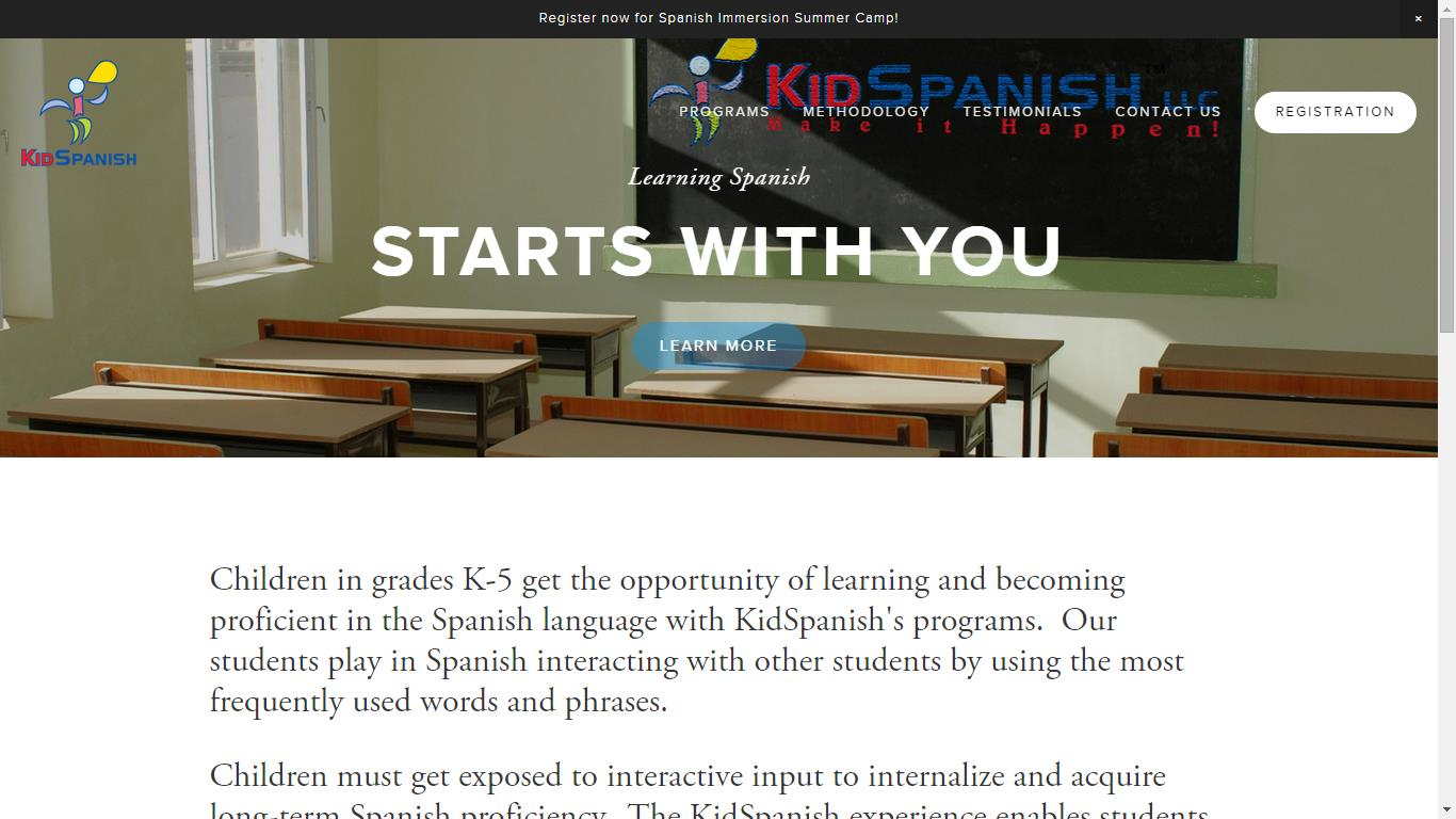 Kid Spanish Spanish Immersion Summer Camp