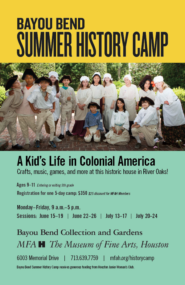 Bayou Bend Summer History Camp
