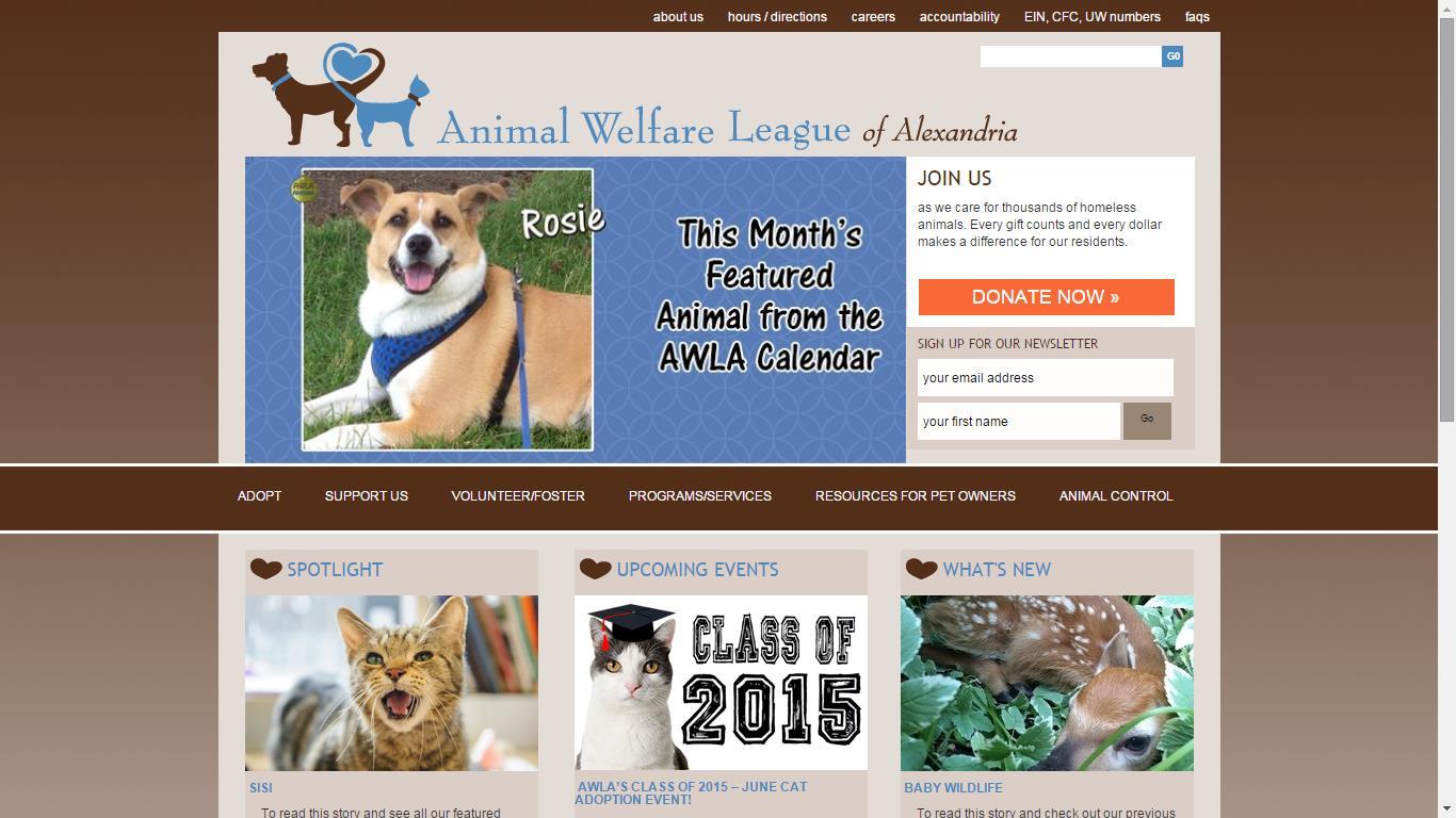 Animal Welfare League of Alexandria Summer Animal Camp