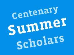 Centenary Summer Scholars Academic Programs